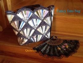 Fancy fans bag,(PDF tutorial)