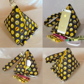 Pyramid wristlet key fob & cell phone stand