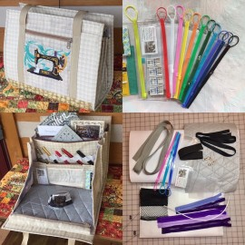 Ultimate carry all bag for any kind of crafts: PDF Tutorial + Supply kit