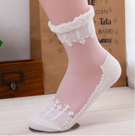 Crystal Lace Ultrathin Transparent  Elastic Short Women Socks 003