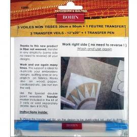 Transfer veil and pen