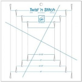 Twist-n-Stitch Slotted Ruler (June Tailor)
